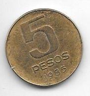 *argentina 5 Pesos 1985 Km 92 - Argentinië
