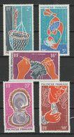 POLYNESIE FRANCAISE POSTE AERIENNE 1970 YT N° PA 34 à 38 ** - Unused Stamps