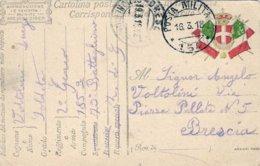 1918-cartolina Postale In Franchigia I Guerra Posta Militare 154 Viaggiata - 1900-44 Victor Emmanuel III