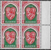 1947 Algérie N° 265  (bloc De 4)  Nf** MNH . Armoiries ALGER - Algeria (1924-1962)
