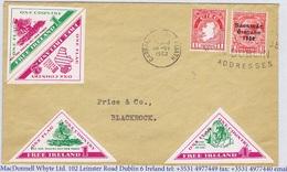 Ireland Propaganda 1962 FREE IRELAND 1d (2) 2d 4d On Cover Blackrock CARRAIG DUBH 28 VI 62 - Irlande