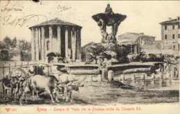 1905-Roma Tempio Di Vesta Con La Fontana Eretta Da Clemente XI, Viaggiata Diretta In Belgio - Roma (Rome)