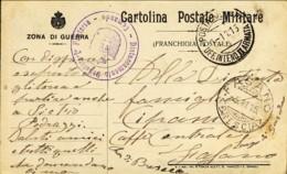 1915-Zona Di Guerra Cartolina Postale Militare Franchigia Di Stato, Viaggiata - War 1914-18