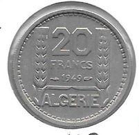 *algeria  20 Francs 1949  Km 91  Xf+/ms60 - Algeria