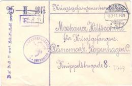 1917-Germania Bolli Di Posta Militare Su Busta In Franchigia Gutersloh Diretta In Danimarca - Germany