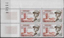 1956  Algérie N° 338  (bloc De 4)  Nf** MNH . Coin Numéroté. Maréchal Leclerc - Algeria (1924-1962)