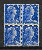 1957  Algérie N° 349   (bloc De 4)  Nf** MNH . Marianne De Muller - Algeria (1924-1962)
