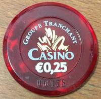 57 AMNEVILLE LES THERMES JETON DE CASINO DE 0,25 EURO N° 00155 CHIP TOKEN COIN - Casino