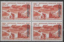 1958  Algérie N° 350   (bloc De 4)  Nf** MNH . Journée Du Timbre : Distribution Motorisée. - Algeria (1924-1962)