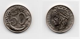 50 Lire – Italie – 1996– Tête Couronnée – Cuivre Nickel – Etat TTB – KM 183 - 1946-… : República