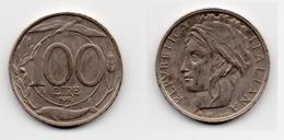 100 Lire – Italie – 1993 – Tête Couronnée – Cuivre Nickel – Etat TTB – KM 159 - 1946-… : Republic