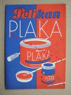 Pelikan PLAKA - Günther Wagner, Hannover ( Werbung Prospekt Farbkarte ) - Vulpen