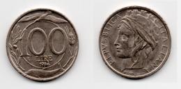 100 Lire – Italie – 1994 – Tête Couronnée – Cuivre Nickel – Etat TTB – KM 159 - 1946-… : Republic