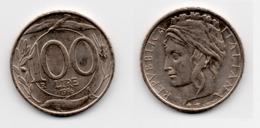 100 Lire – Italie – 1996 – Tête Couronnée – Cuivre Nickel – Etat TTB – KM 159 - 1946-… : Republic