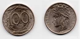 100 Lire – Italie – 1997 – Tête Couronnée – Cuivre Nickel – Etat TTB – KM 159 - 1946-… : Republic