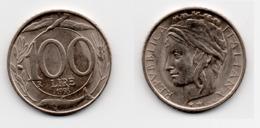 100 Lire – Italie – 1998 – Tête Couronnée – Cuivre Nickel – Etat TTB – KM 159 - 1946-… : Republic