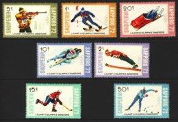 """1972-(MNH=**) Albania S.7v. """" Winter Olympics Sapporo"""" - Albanie"""