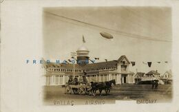 1908 Calgary Alberta RPPC: Dallas Airship Overflies Local Beer Option Banner - Calgary