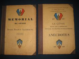2 Ouvrages Militaires Sur LE GENIE Dans Le Corps Expéditionnaire Français 1ère Armée Française 1943-1945 - Documents