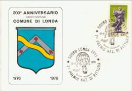 1976-Montagna Fiorentina Cartolina Illustrata 200 Anniversario Costituzione Comune Di Londa Cachet 7� Premio Nazionale D - Firenze (Florence)