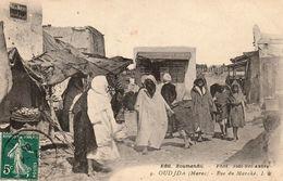 OUDJDA (OUJDA - Maroc) - Rue Du Marché - Photo Boumendil - Cpa Animée - Très Bon état - Petit Prix - 2 Scans - Altri