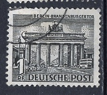 Allemagne Berlin - Germany - Deutschland 1949 Y&T N°28 - Michel N°42 (o) - 1p Porte De Brandeboug - Oblitérés