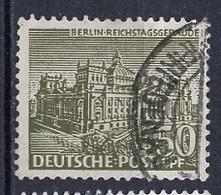 Allemagne Berlin - Germany - Deutschland 1949 Y&T N°39 - Michel N°53 (o) - 50p Le Reichstag - Oblitérés