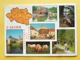 V11-03-l'alier-dompierre Sur Besbre-- Multivues-parc- Peche- Chateau Saligny- Sur Roudon-place Charolaise- - Frankrijk
