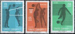 Turkey 1974 Sports 3 Values Mi 2344-46 MNH 2008.0839 Basketball, Volleyball, Football - Non Classificati