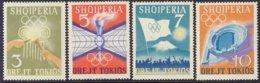 "1964-(MNH=**) Albania S.4v."" Olimpiadi Di Tokyo"" - Albanie"