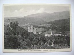 Italy - Priola - Panorama E Castello Pallavicini - Castle Pallavicini - Ruins And Village - Old Postcard, Used 1975 - Cuneo