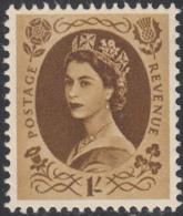 Great Britain 1955 MH Sc 331 1sh QEII - 1952-.... (Elisabetta II)