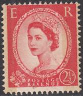 Great Britain 1959 MH Sc 357dp 2 1/2p QEII Black Graphite Lines, Phosphor - 1952-.... (Elisabetta II)