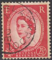 Great Britain 1959 Used Sc 357dp 2 1/2p QEII Black Graphite Lines, Phosphor CDS Blackpool - 1952-.... (Elizabeth II)