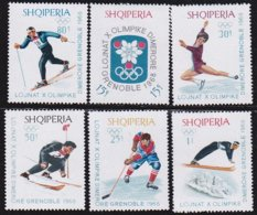 "1968-(MNH=**) Albania S.6v.""Olimpiade Invernale Grenoble"" - Albanie"