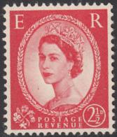 Great Britain 1959 MH Sc 357d 2 1/2p QEII Black Graphite Lines - 1952-.... (Elisabetta II)
