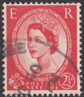 Great Britain 1959 Used Sc 357d 2 1/2p QEII Black Graphite Lines - 1952-.... (Elizabeth II)