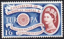 Great Britain 1960 MNH Sc 378 1sh6p CEPT 1st Anniversary - 1952-.... (Elisabetta II)