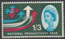Great Britain 1962 MH Sc 389p 1sh3p 5 Arrows National Productivity Year Phosphor - 1952-.... (Elisabetta II)