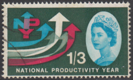 Great Britain 1962 Used Sc 389p 1sh3p 5 Arrows National Productivity Year Phosphor - 1952-.... (Elizabeth II)