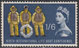 Great Britain 1963 MH Sc 397p 1sh6p Lifeboat, Men Phosphor - 1952-.... (Elisabetta II)