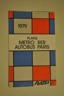 Plan De Metro Metropolitain De 1979 Ratp Metro Rer Autobus Paris - Europe