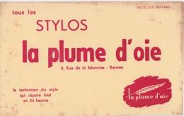 BUVARD - STYLOS LA PLUME D'OIE RUE DE LA MONNAIE A RENNES - Papierwaren