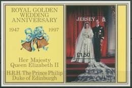 Jersey 1997 Königin Elisabeth II. Und Prinz Philip Block 16 Postfrisch (C90793) - Jersey