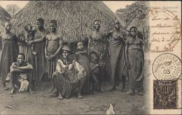 YT Benin Groupe N°37 Bon Timbre Sur Lettre CAD Paouignan Dahomey 23 8 03 + Cachet Dahomey CP Chef Zagnanado - Cartas