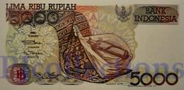 INDONESIA 5000 RUPIAH 1997 PICK 130f AUNC - Indonesien
