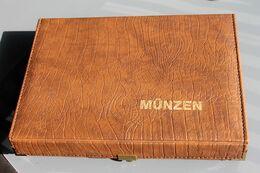 Münzkassette, Münzenkassette, Braun, Abschließbar - Materiale