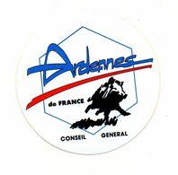 Autocollant Ardennes De France Conseil Général - Format Diamètre 11 Cm - Stickers