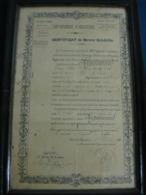 Certificat De Bonne Conduite Du 123ème Régiment D'Infanterie De LA ROCHELLE - Documentos