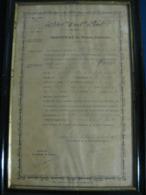Certificat De Bonne Conduite Du 14ème Bataillon D'Artillerie à Pied De LA ROCHELLE - Documentos